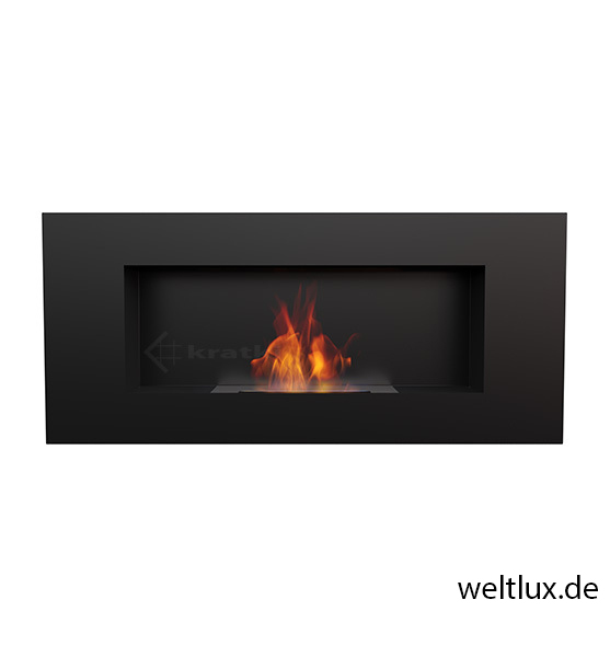 t v gepr ft wandkamin bio ethanol kamin stahl edelstahl mit glasscheibe ebay. Black Bedroom Furniture Sets. Home Design Ideas