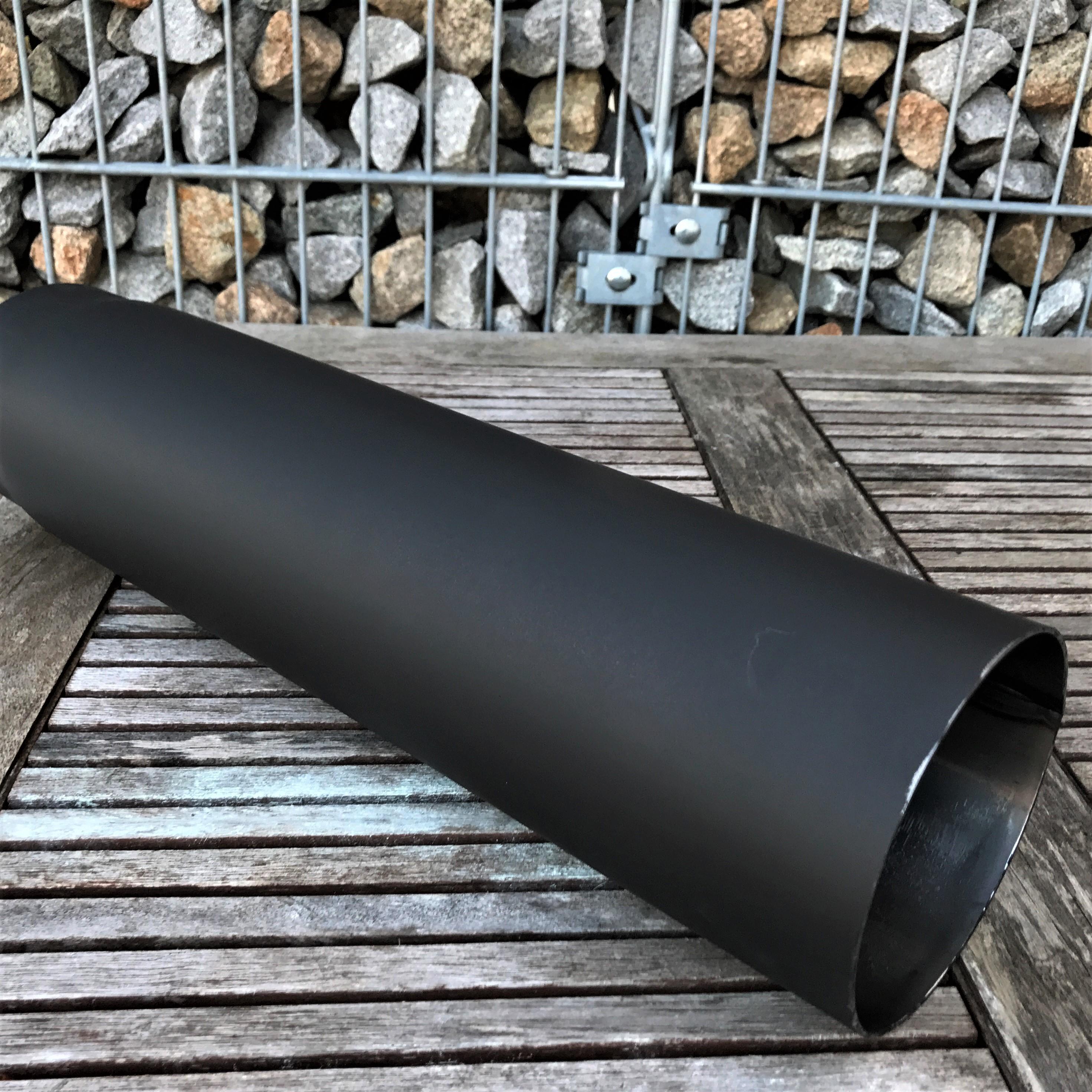 rauchrohr kaminofen abgasrohr schornstein ofenrohr schwarz 0 5m lang 150 ebay. Black Bedroom Furniture Sets. Home Design Ideas