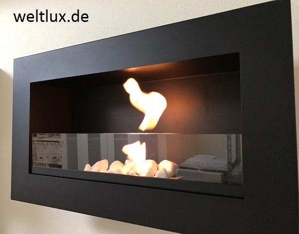 t v gepr ft biokamin wandkamin bioethanol kamin chemin e mit ohne glasscheibe ebay. Black Bedroom Furniture Sets. Home Design Ideas