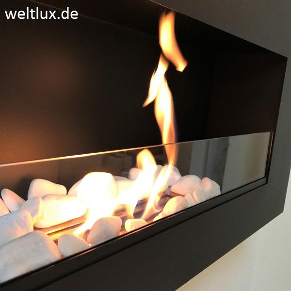 t v wandkamin biokamin bio ethanol kamin chemin e avec verre mit glasscheibe ebay. Black Bedroom Furniture Sets. Home Design Ideas