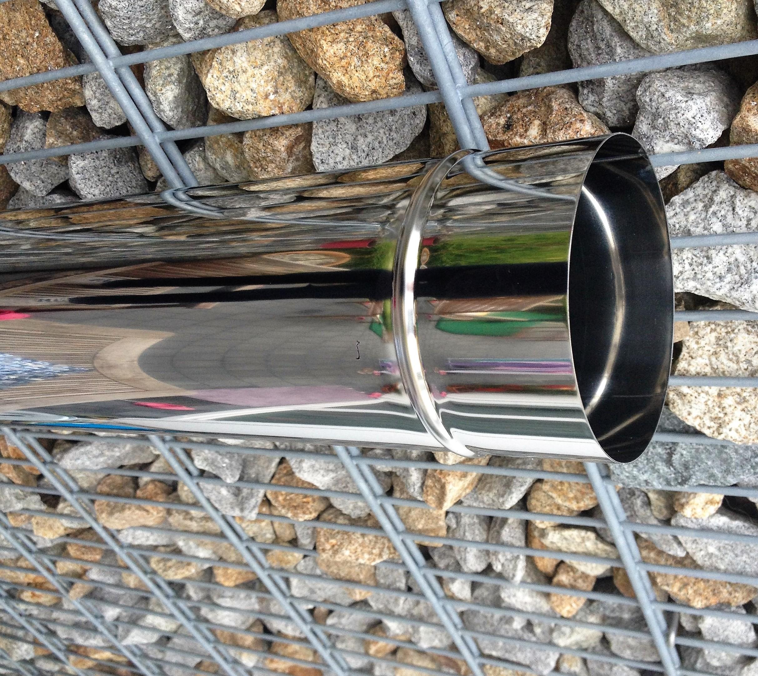 ofenrohr rauchrohr schornstein sanierung abgasrohr edelstahl 120 mm 0 6 mm ebay. Black Bedroom Furniture Sets. Home Design Ideas