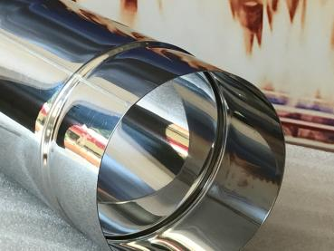 weltlux schornsteine rauchrohre einwandige premium edelstahlelemente 0 6 mm 100 bis 200. Black Bedroom Furniture Sets. Home Design Ideas