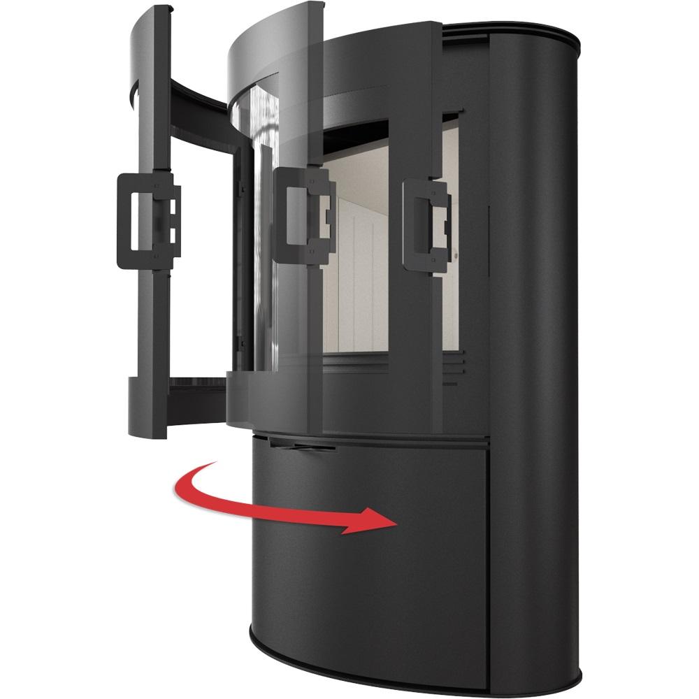 weltlux kaminofen holzofen 10 kw panoramascheibe gr brennraum dauerbrandofen bimschv 2 ofen. Black Bedroom Furniture Sets. Home Design Ideas