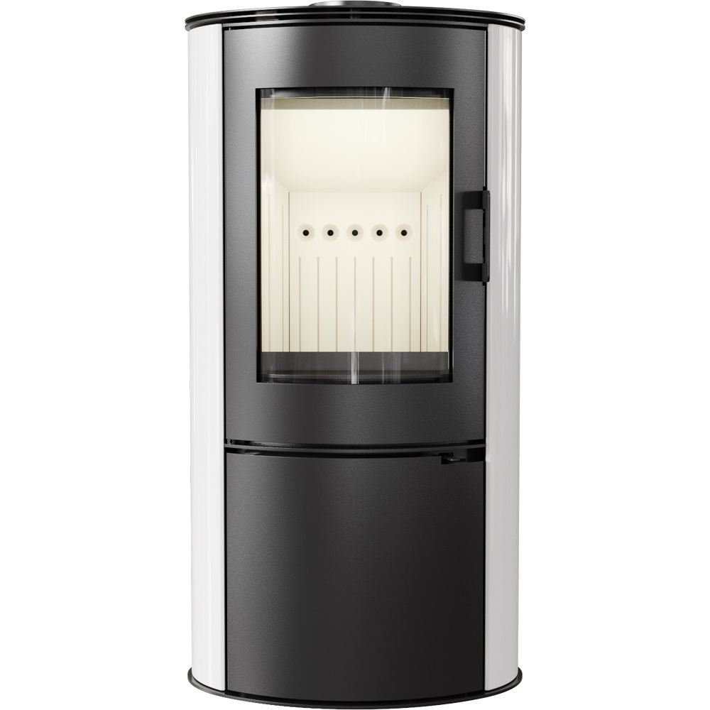 weltlux kaminofen holzofen mit 8 kw und wei e keramik kacheln dauerbrandofen bimschv 2 ofen. Black Bedroom Furniture Sets. Home Design Ideas