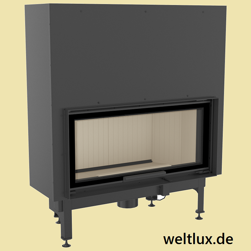 weltlux kamin nadia 14 warmluft kamineinsatz mit 14 kw und hebet r externe luftzufuhr. Black Bedroom Furniture Sets. Home Design Ideas