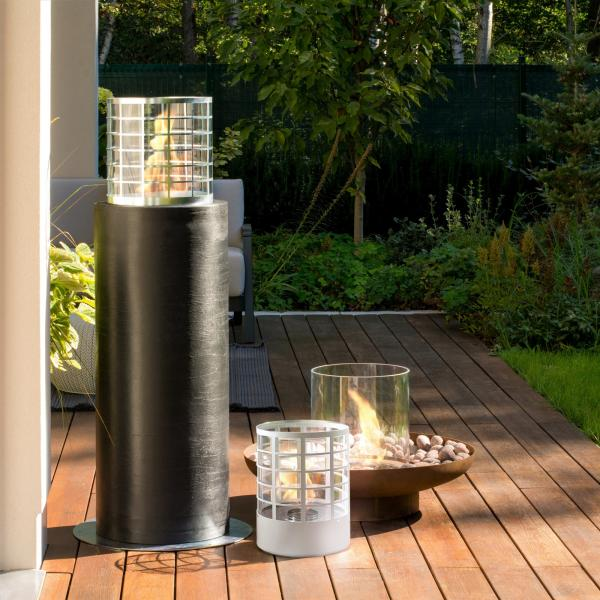 weltlux t v gepr ft biokamin planika faro commerce mit dekosteine bioethanol gartenkamin mit. Black Bedroom Furniture Sets. Home Design Ideas